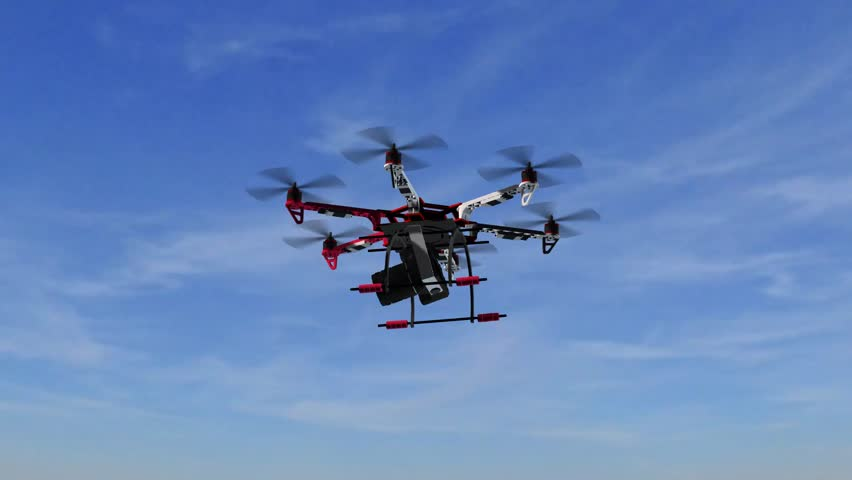 Drone Hexacopter with Camera in flight | Shutterstock HD Video #17923123