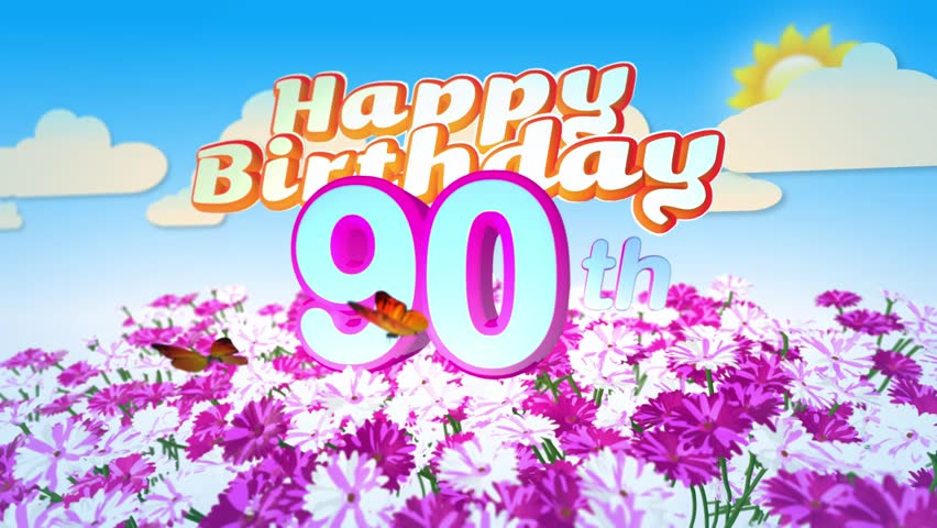 Happy 90th Birthday Card With Stock Footage Video 100 Royalty Free 17941093