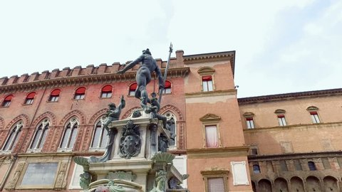Bologna, Italy, statue of Neptune with Trident