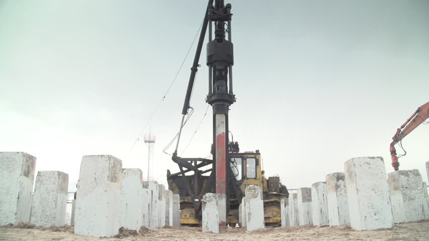 Piling Machine at Work - Stock Footage Video (100% Royalty-free) 18297133 |  Shutterstock