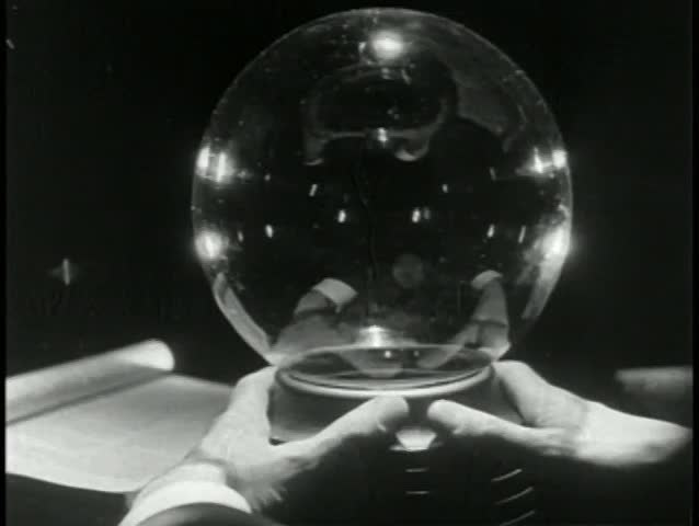 Point of view looking into cystal ball