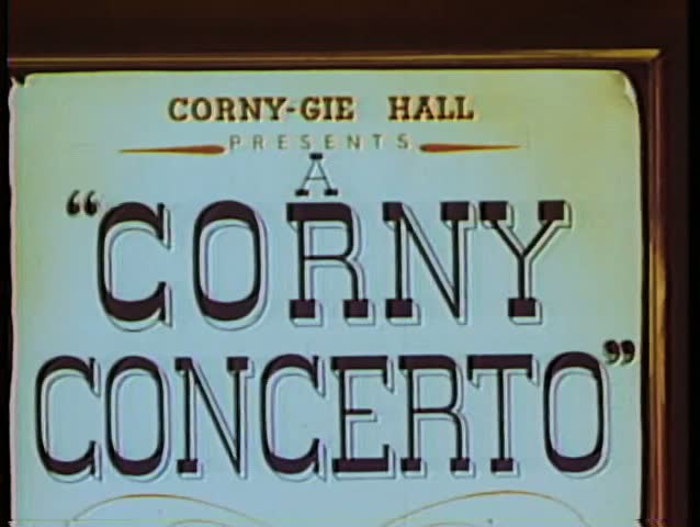 Cartoon of Corny Concerto sign | Shutterstock HD Video #1833383
