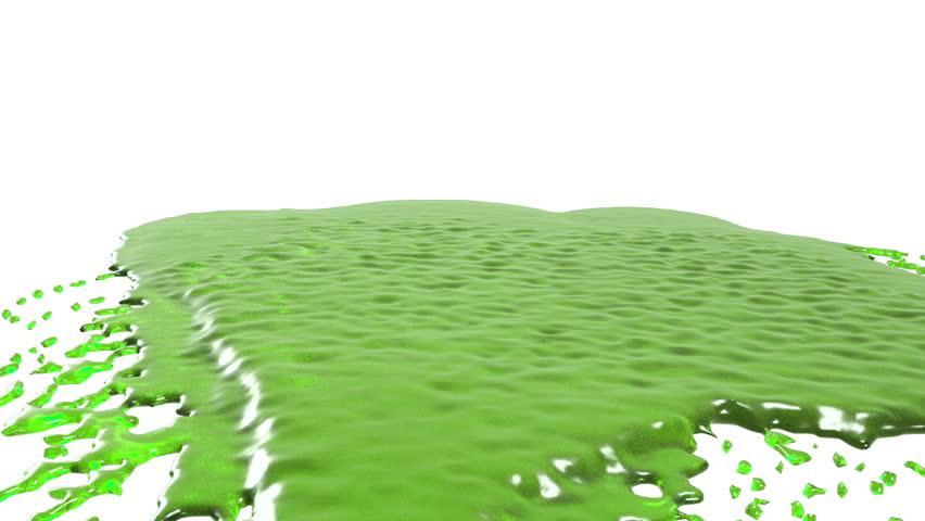 Green drops falling on white screen | Shutterstock HD Video #18340573