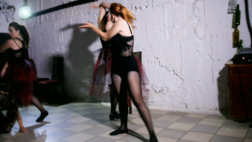 Contemporary dance performance of four dancers #18379333