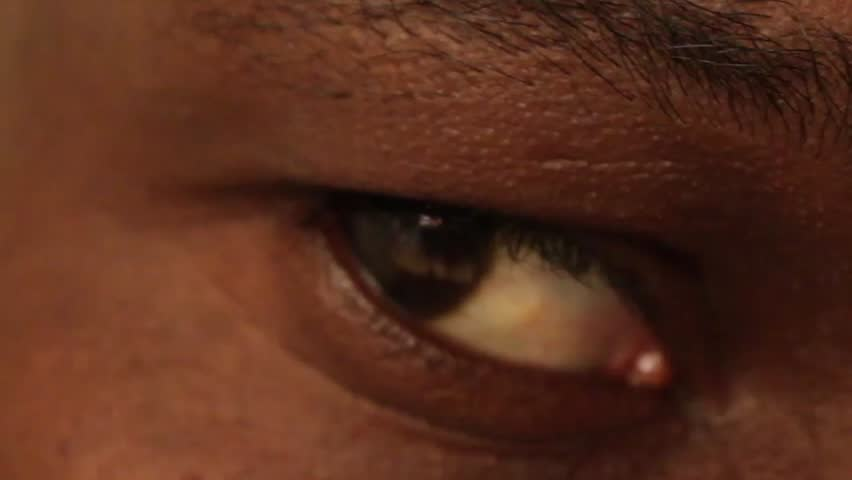 African American Male Eye Close Up   Shutterstock HD Video #18388660