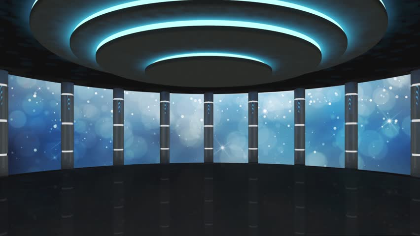Entertainment TV Studio Set - Virtual Green Screen Background Loop | Shutterstock HD Video #18451273