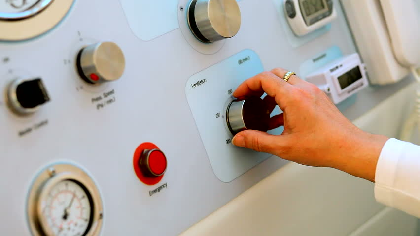 Doctor used electronic medical equipment - hyperbaric chamber | Shutterstock HD Video #1846816