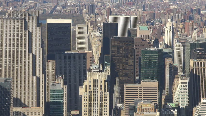 NEW YORK, APRIL 21, 2013, Aerial view of amazing crowded town by day | Shutterstock HD Video #18536483