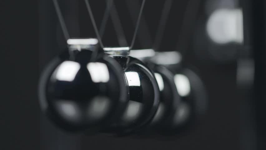 Slow motion shot of a Newton's Cradle. | Shutterstock HD Video #18565403