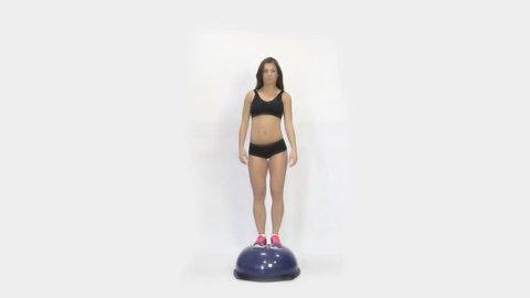 Sport girl doing exercise on the bosu