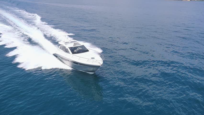 Luxury Motor Boat Aerial View Rio Yachts Best Italian Yacht