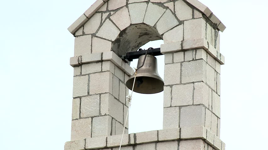 Church bell ringing on holy day