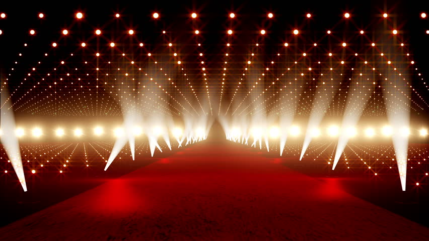 Red Carpet festival scene animation