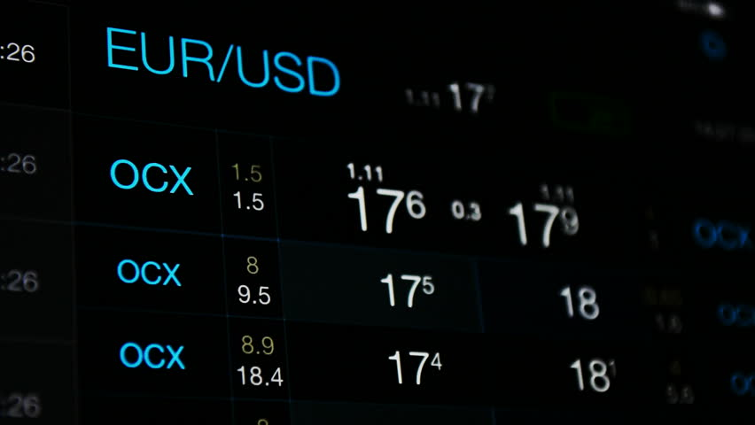 Currency Exchange Euro Vs Dollar Rate White Numbers On The Black Background Of Board Eur Usd Abstract Forex Stock Market