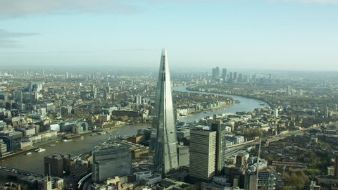 Aerial view of London Cityscape UK