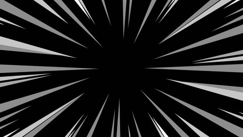 Animation of Comic speed radial background