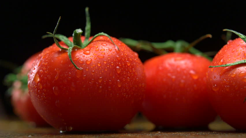 Extreme close-up tomatoes