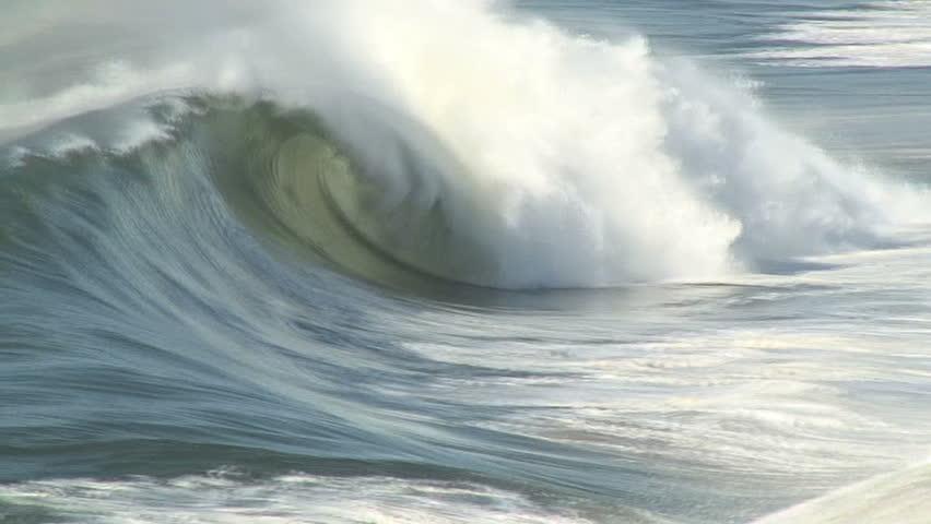 Pan Follows Breaking Wave | Shutterstock HD Video #1882693