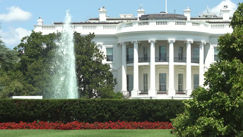 Washington DC - The White House / Side view with beautiful sky