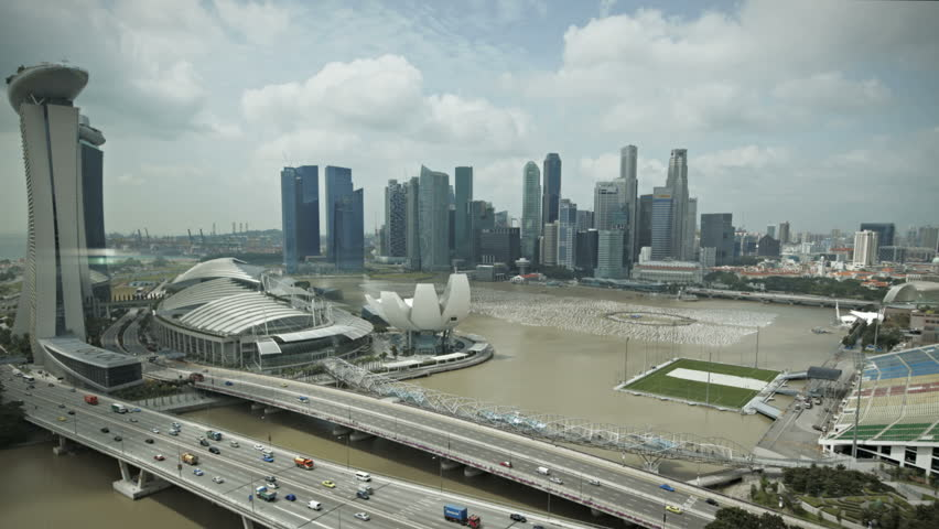 Timelapse Singapore aerial view of the marina bay going down | Shutterstock HD Video #1892563