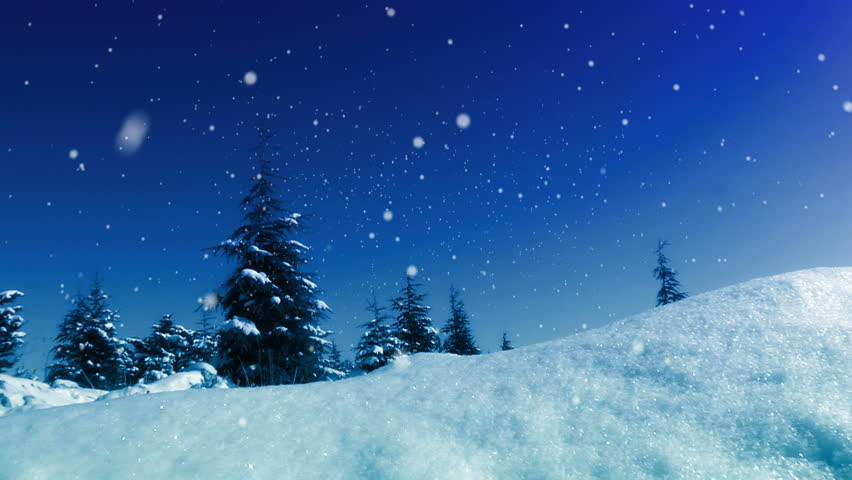 Snow Forest Realistic Animation 4 Stock Footage Video (100 ...