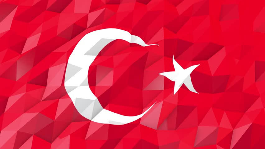 Flag Of Turkey 3d Wallpaper Stock Footage Video 100 Royalty Free