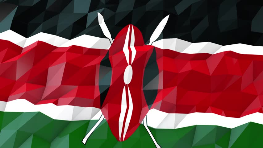 Flying Flag Of Kenya With Stock Footage Video 100 Royalty Free