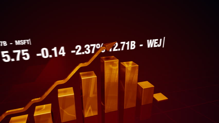 3d bar charts and financial figures cg animation on abstract background   Shutterstock HD Video #18992473