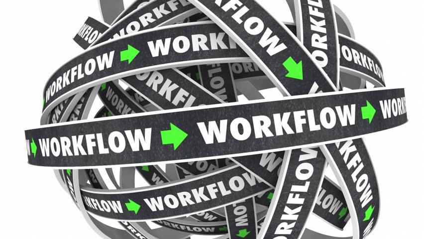 Workflow Process Procedure Loop Instructions 3d Illustration   Shutterstock HD Video #19083703