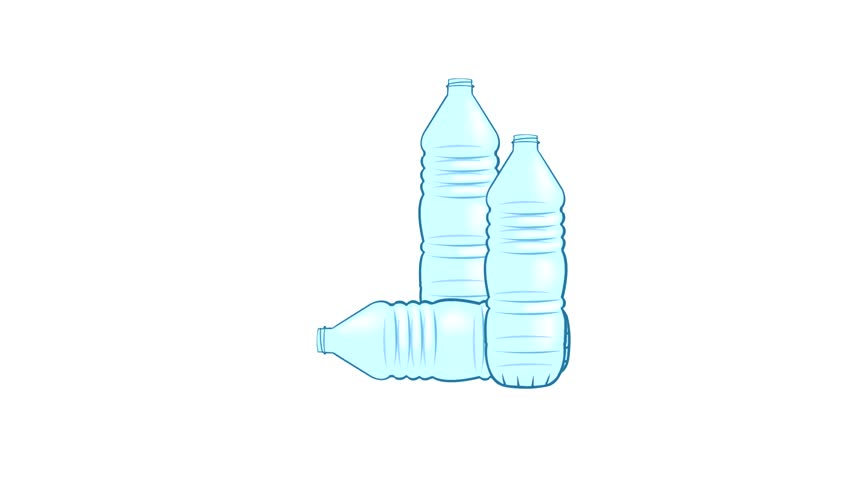 Motion graphics video of empty water bottles | Shutterstock HD Video #19202563