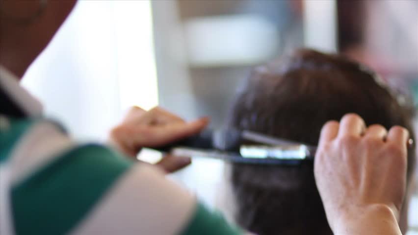 Hair Being Trimmed 01 | Shutterstock HD Video #1926214