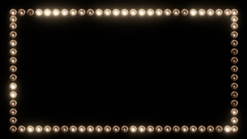 Frame of Light Bulbs for a Film Border