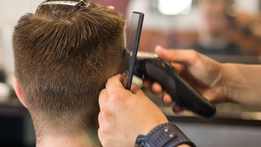 Cutting Hair Machine. Work in Stock Footage Video (100% Royalty,free)  19277473