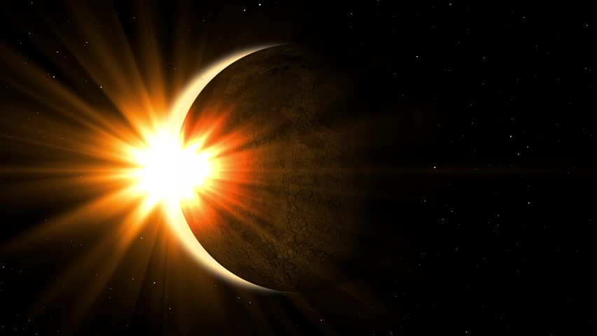 Detailed solar eclipse