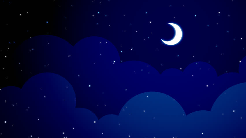 stock video of a dark blue vector style cloudy