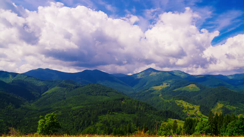 Time Lapse Clip. Fantastic Mountain Landscape with Clouds. Beauty World. TimeLapse. 4K.  | Shutterstock HD Video #19426840