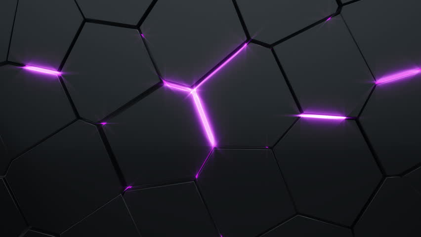 Abstract background with animation moving of dark triangles with glowing light from backdrop. Technologic backdrop with plastic surface. Animation of seamless loop. | Shutterstock HD Video #19444453