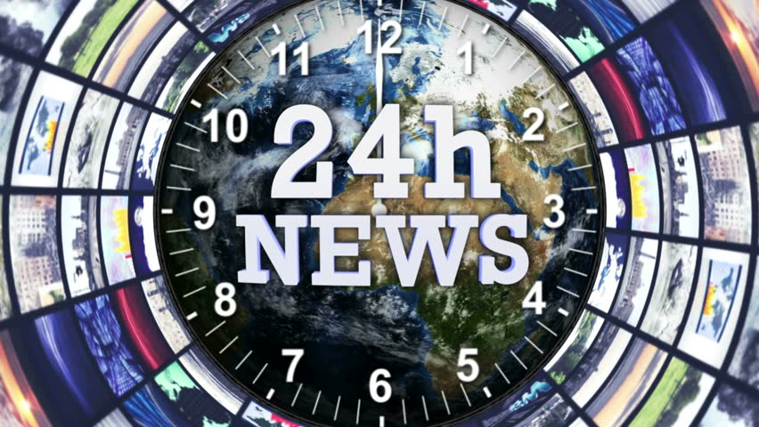 24h NEWS Text Animation in Monitors Tunnel, Loop, 4k  | Shutterstock HD Video #19590613