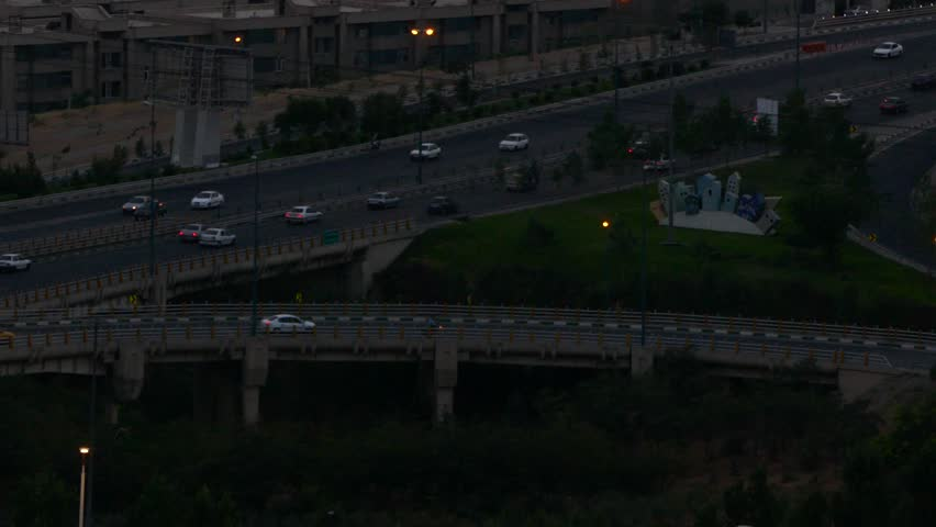 Cars moving in a highway in Tehran the capital of Iran | Shutterstock HD Video #19598683
