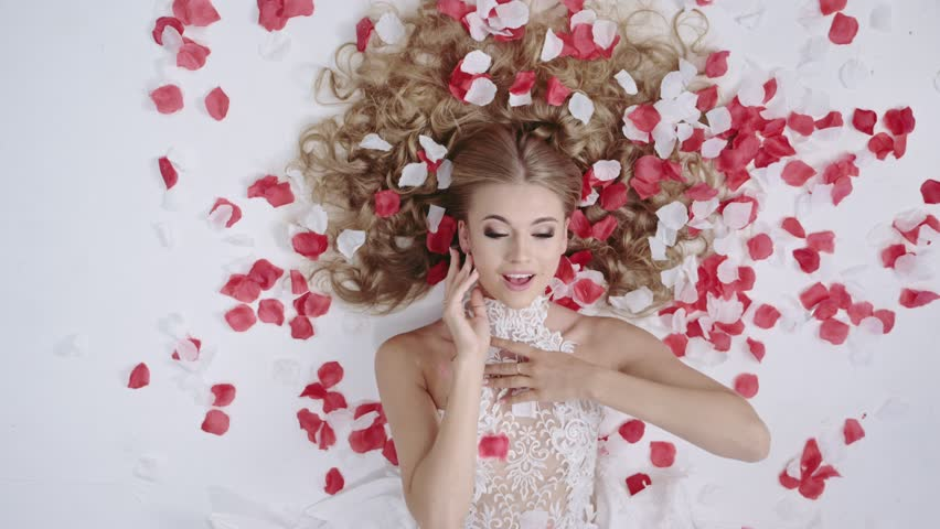Stunning blonde beauty in a romantic scene, 4k Red Epic slow motion clip