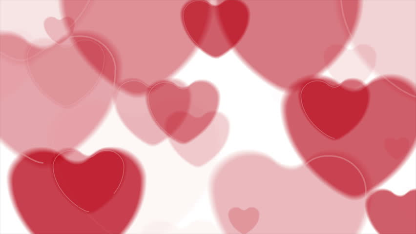 Abstract Big Heart From Small Hearts Motion Graphic Design. Video ...