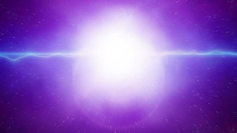 Big bang, big explosion in the space. Big bang theory animation, the birth of the universe.  Cosmic, astronomy background, cosmic energy concept. Big explosion, background for animated logo and intro.