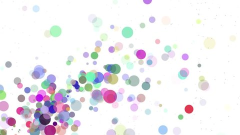 Pro motion animation background video loop - Floating dots, little circles on white back