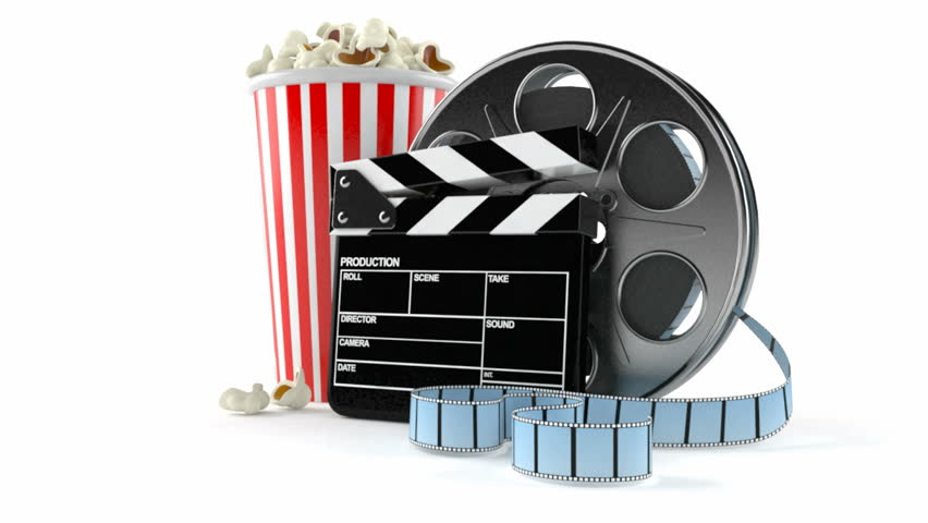 Film Reel With Popcorn And Stock Footage Video 100 Royalty Free