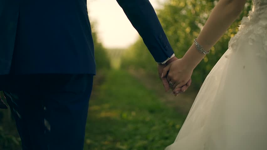 Marriage Holding Hands Bou