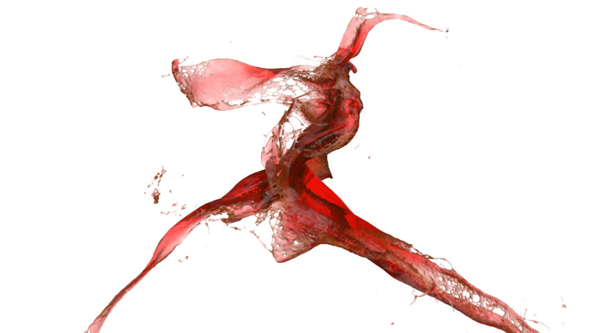 red wine splash in slow motion (FULL HD)