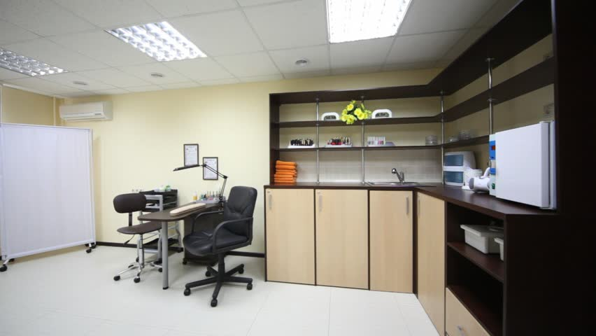 Modern Furniture Video small office room with two working places, modern furniture and