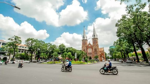 Ho Chi Minh City Vietnam: Notre Dame Cathedral (Vietnamese: Nha Tho Duc Ba), build in 1883 in Ho Chi Minh city, Vietnam. The church is established by French colonists.