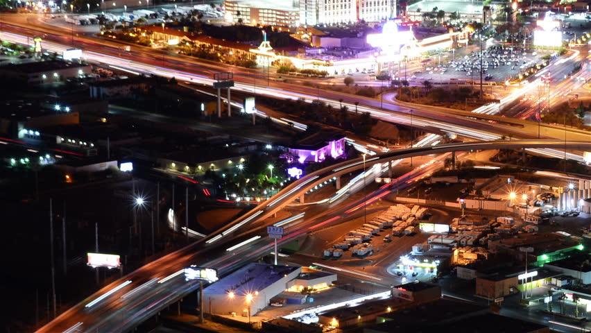 Las Vegas Cityscape 34 Time Lapse Loop Freeway | Shutterstock HD Video #20013283