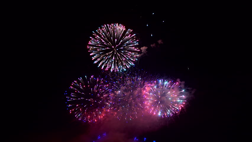 Fantastic very bright colored fireworks at the night | Shutterstock HD Video #20102113